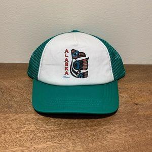 Alaska Native American Raven Snapback Trucker Hat